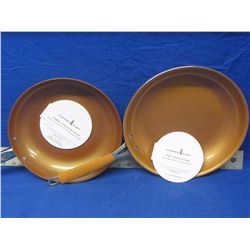 """lot of 2 Copper Chef frying pans 10"""" + 12"""""""