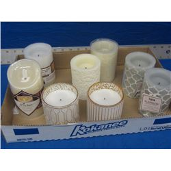 Flat of 8 new flameless LED wax candles