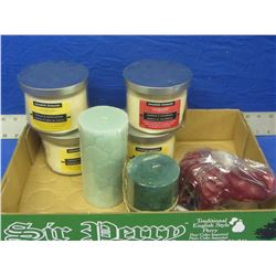 Flat of New scented candles 7 in total
