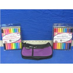 New bundle of Permanent fabric markers and carry case