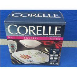 New Corelle 16 piece square dinnerware