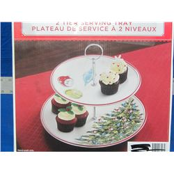 New Holiday seving tray 2 tier