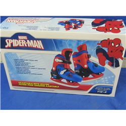 New spiderman ice skates boys size y12 - 2