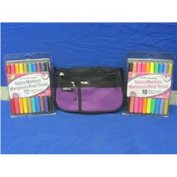 New Fabric Markers and case / 2 packs of 10 each
