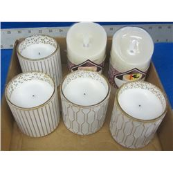 6 New LED Wax candles