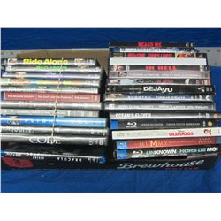 27 dvd movies all are newer releases / some are blueray