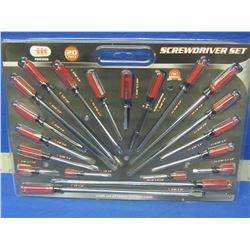 New 20 piece screwdriver set