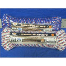 New 2 roles of 100ft each Diamond braid rope