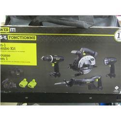New 18 volt 11 piece kit / Drill / Skilsaw / Sawzall / flashlight/charger+2 batteries & accessories