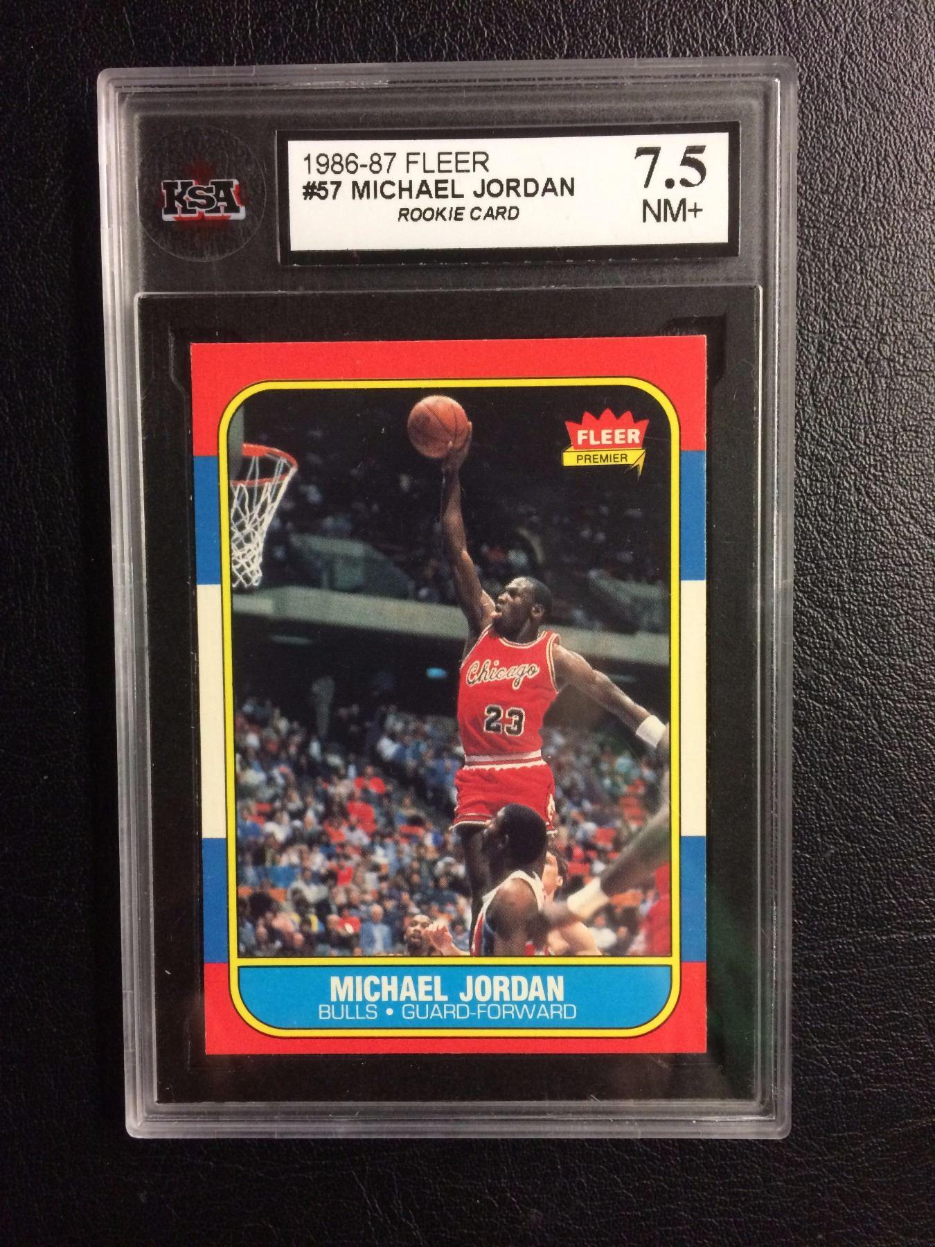 1986 87 Fleer 57 Michael Jordan Rookie Card 75 Nm Ksa