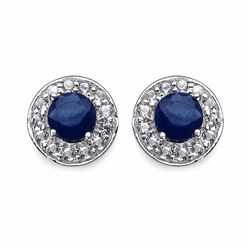 STERLING SILVER SAPPHIRE EARRINGS