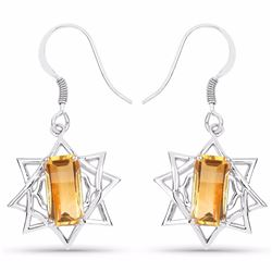STERLING SILVER CITRINE EARRING