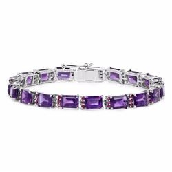 STERLING SILVER AFRICAN AMETHYST AND RUBY BRACELET