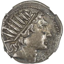 ROMAN REPUBLIC: Mn. Aguillius, 109/108 BC, AR denarius (3.93g), Rome. NGC EF