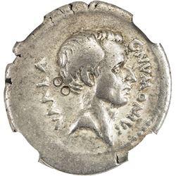 ROMAN REPUBLIC: C. Numonius Vaala, 41 BC, AR denarius (3.64g). NGC VF