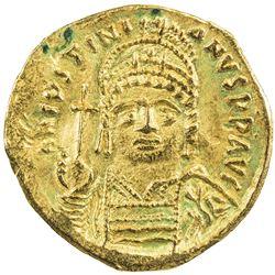 BYZANTINE EMPIRE: Justinian I, 527-565, AV solidus (3.98g), Carthage. VF