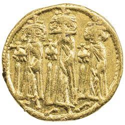 BYZANTINE EMPIRE: Heraclius, 610-641, AV solidus (4.29g), Constantinople. VF