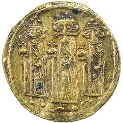 "BYZANTINE EMPIRE: Heraclius, 610-641, AV solidus (3.14g), ""Constantinople"". VF"