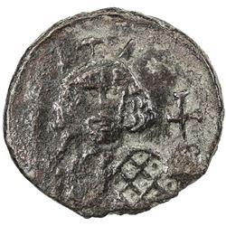 BYZANTINE EMPIRE: Theodosius III of Adramytium, 715-717, AE follis (4.76g), Syracuse, ND. VF