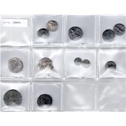 ANCIENT: LOT of 7 silver and 5 copper coins