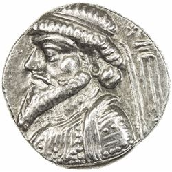 ELYMAIS: Kamnaskires V, ca. 62-54 BC & later, AR tetradrachm (15.33g), Seleucia. EF