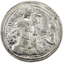 SASANIAN: Varahran II, 276-283, AR drachm (4.00g), SK (Sijistan). VF-EF
