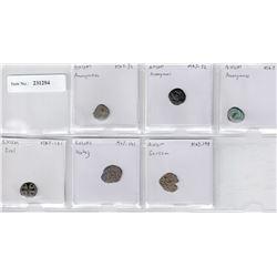 AXUM: LOT of 6 copper coins