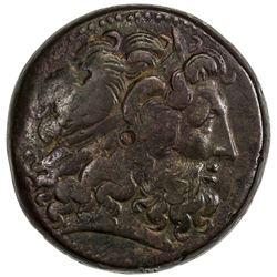 PTOLEMAIS: Ptolemy III, 246-222 BC, AE tetrobol (42.71g), Alexandreia mint. F