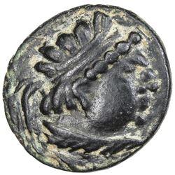 "YUEH CHI: ""Heliocles"", 1st century BC, AE drachm (3.20g). VF-EF"