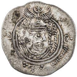 ARAB-SASANIAN: 'Abd Allah b. al-Zubayr, rival caliph, 680-692, AR drachm (4.12g), DA+P (Fasa), YE60.