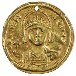 ARAB-BYZANTINE: Anonymous, 7th-10th century, AV burial piece (0.81g). VF