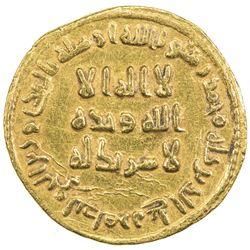 UMAYYAD: 'Abd al-Malik, 685-705, AV dinar (4.28g), NM (Dimashq), AH78. EF