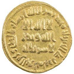 UMAYYAD: 'Abd al-Malik, 685-705, AV dinar (4.27g), NM (Dimashq), AH80. EF-AU