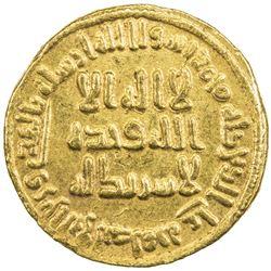 UMAYYAD: 'Abd al-Malik, 685-705, AV dinar (4.23g), NM (Dimashq), AH86. EF-AU