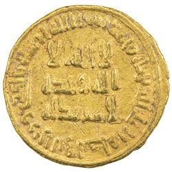 UMAYYAD: al-Walid I, 705-715, AV dinar (4.31g), NM (Dimashq), AH87. EF