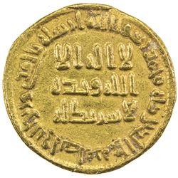 UMAYYAD: al-Walid I, 705-715, AV dinar (4.25g), NM (Dimashq), AH89. EF