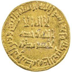UMAYYAD: Sulayman, 715-717, AV dinar (4.24g), NM (Dimashq), AH99. EF-AU