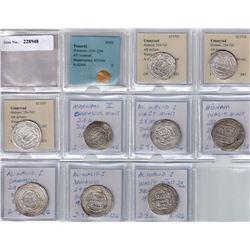 UMAYYAD: LOT of 10 silver dirhams