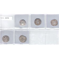ABBASID: LOT of 5 dirhams from Caucasian mints