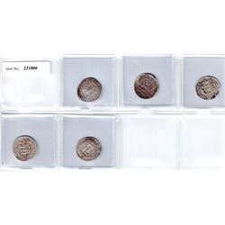 ABBASID: LOT of 5 dirhams, mint of Sijistan