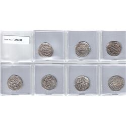 UMAYYAD OF SPAIN: LOT of 7 silver dirhams of the al-Andalus mint