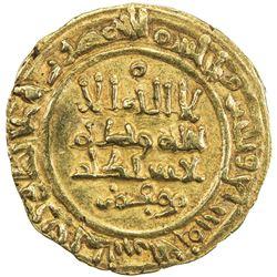 AFTASID OF BADAJOZ: al-Muzaffar Muhammad, 1045-1068, AV dinar (3.28g), al-Andalus, AH437. VF-EF