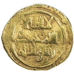 KHAZRUNID: Mas'ud b. Wanudin, 1048-1053, AV dinar (3.68g), NM, ND. VF