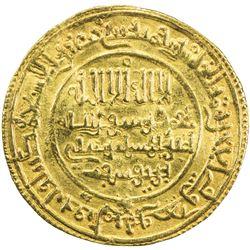 ALMORAVID: 'Ali, 1106-1142, AV dinar (4.14g), Aghmat, AH512. VF