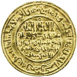 ALMORAVID: 'Ali, 1106-1142, AV dinar (4.10g), Marrakesh, AH525. VF-EF
