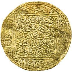 MERINID: Abu Faris Musa, 1384-1386, AV dinar (4.69g), Tilimsan (Tlemcen). EF