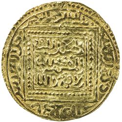 MERINID: Abu Faris 'Abd al-'Aziz II, 1393-1396, AV dinar (4.63g), Madinat Fas (Fez). EF