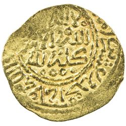 ALAWI SHARIF: Isma'il al-Samin, 1672-1727, AV dinar bunduqi (3.42g), Fez, AH1121. EF