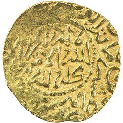 ALAWI SHARIF: Isma'il al-Samin, 1672-1727, AV dinar bunduqi (3.43g), Fez, AH1125. EF