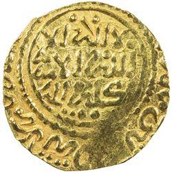 ALAWI SHARIF: Isma'il al-Samin, 1672-1727, AV dinar bunduqi (3.44g), Fez, AH1133. EF